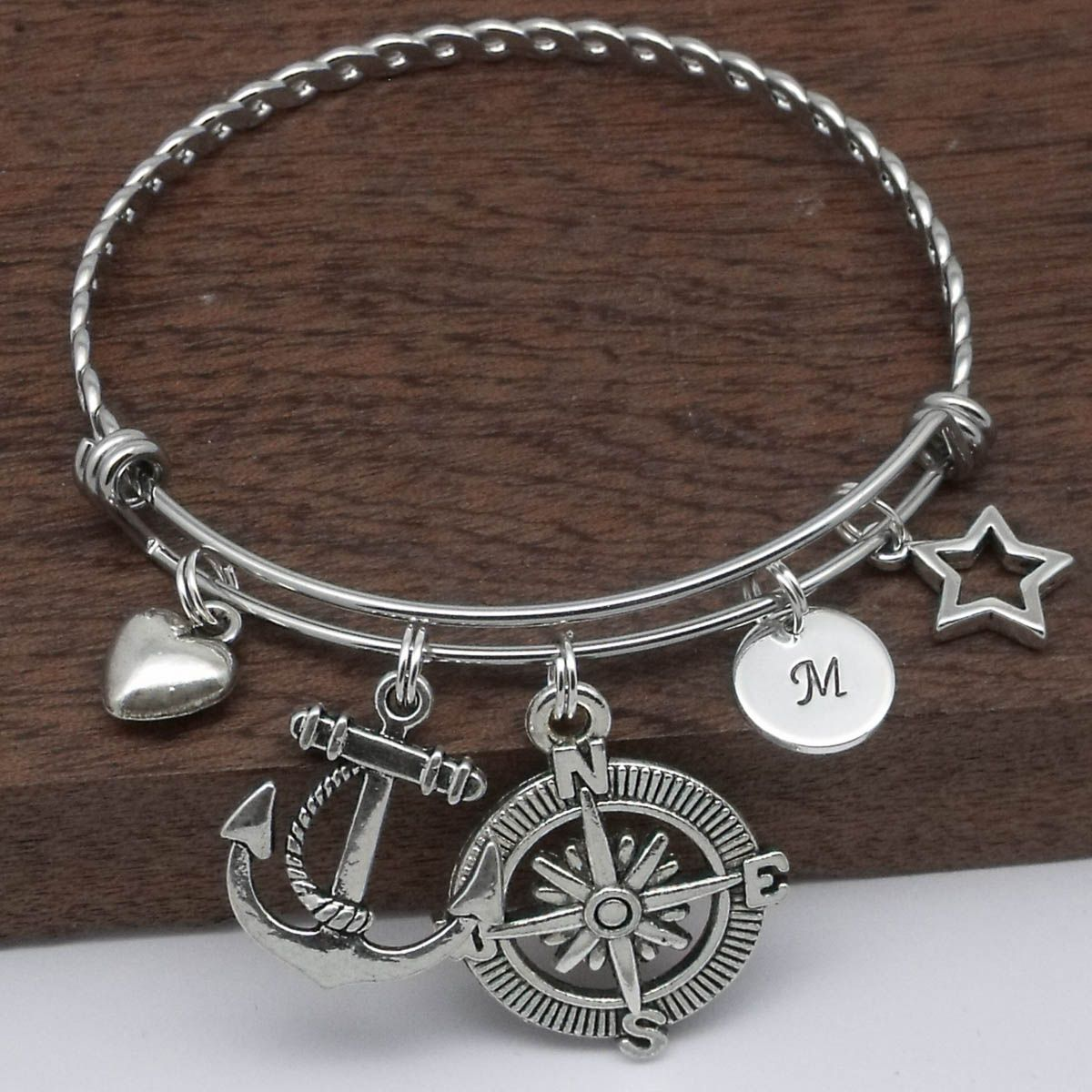 personalized compass latitude bracelet longitude